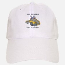What Happens On The Bus Stays On The Bus Baseball Baseball Cap