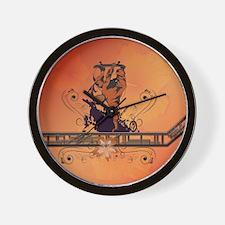 Skadeboarder Wall Clock