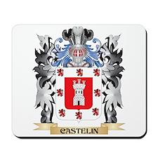 Castelin Coat of Arms - Family Crest Mousepad
