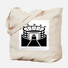 Black Stadium Tote Bag