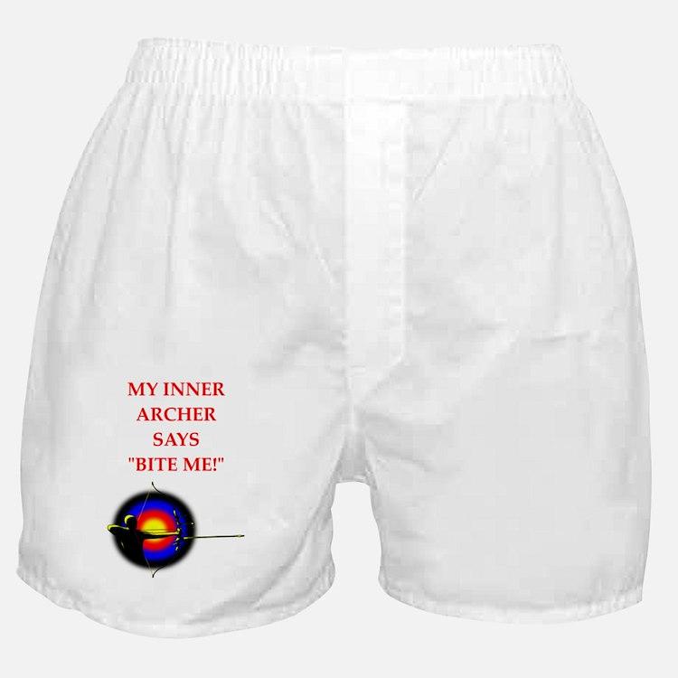 archery joke Boxer Shorts