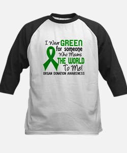 Organ Donation MeansWorldToMe Kids Baseball Jersey