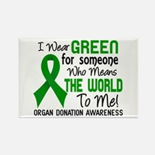 Organ Donation MeansWorldToMe2 Rectangle Magnet