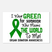 Organ Donation MeansWorld Postcards (Package of 8)