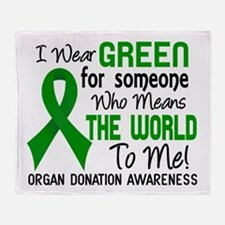 Organ Donation MeansWorldToMe2 Throw Blanket