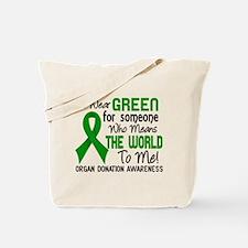Organ Donation MeansWorldToMe2 Tote Bag