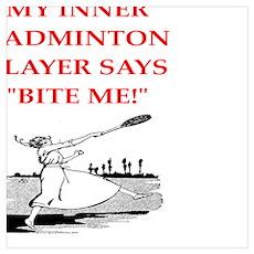 badminton joke Poster