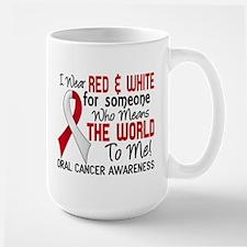 Oral Cancer MeansWorldToMe2 Large Mug