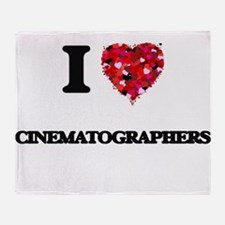 I love Cinematographers Throw Blanket