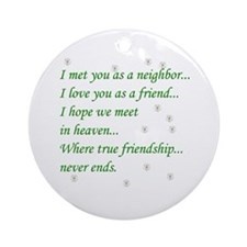 Friend Inspirational Ornament (Round)