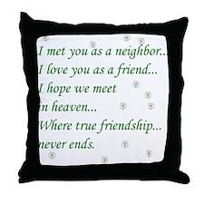 Friend Inspirational Throw Pillow