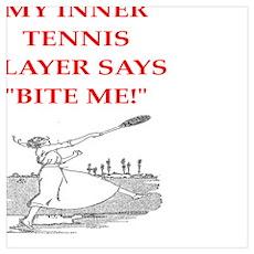 tennis joke Poster