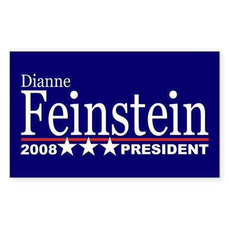DIANNE FEINSTEIN PRESIDENT 2008 Sticker (Rectangul