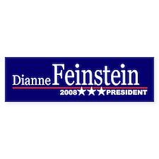 DIANNE FEINSTEIN PRESIDENT 2008 Bumper Bumper Sticker