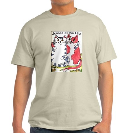 """Joined at the Hip"" Cats Light T-Shirt"