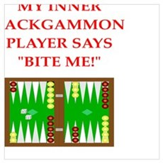 backgammon joke Framed Print