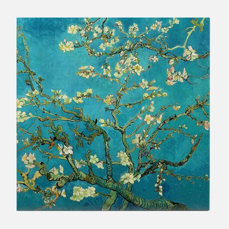 Vincent Van Gogh Blossoming Almond Tr Tile Coaster