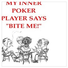 poker joke Canvas Art