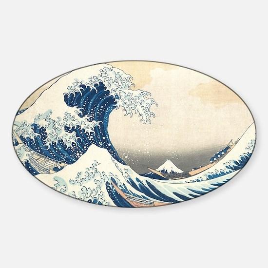 wave Sticker (Oval)