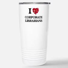 I love Corporate Librar Stainless Steel Travel Mug
