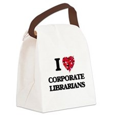 I love Corporate Librarians Canvas Lunch Bag