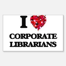 I love Corporate Librarians Decal