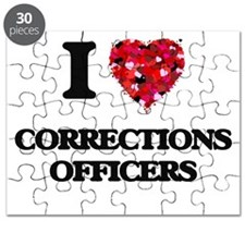 I love Corrections Officers Puzzle