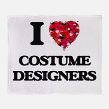 I love Costume Designers Throw Blanket