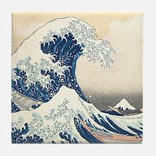 wave hello Tile Coaster