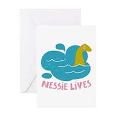 Nessie Lives Greeting Cards