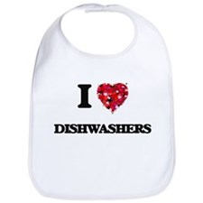 I love Dishwashers Bib