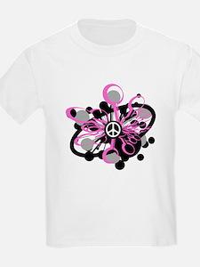 Pink Peace Burst T-Shirt