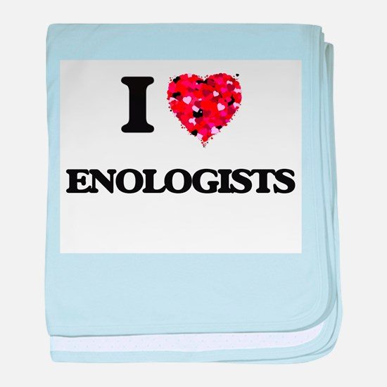 I love Enologists baby blanket