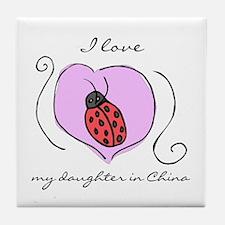 Ladybug Daughter Tile Coaster