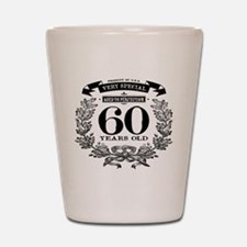 60th birthday vintage design Shot Glass