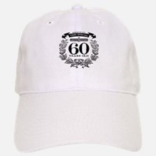 60th birthday vintage design Baseball Baseball Baseball Cap