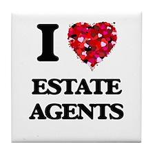 I love Estate Agents Tile Coaster