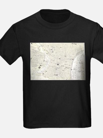 Vintage Map of Philadelphia (1885) T-Shirt