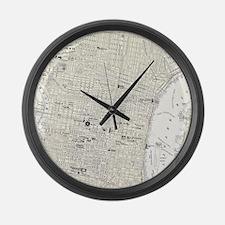 Vintage Map of Philadelphia (1885 Large Wall Clock