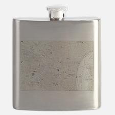 Vintage Map of Philadelphia (1885) Flask