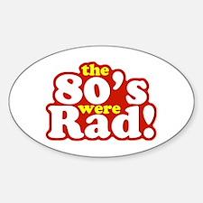 Rad Eighties Oval Decal