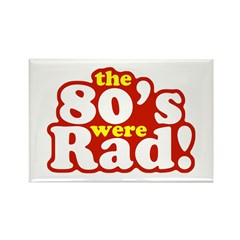Rad Eighties Rectangle Magnet (10 pack)