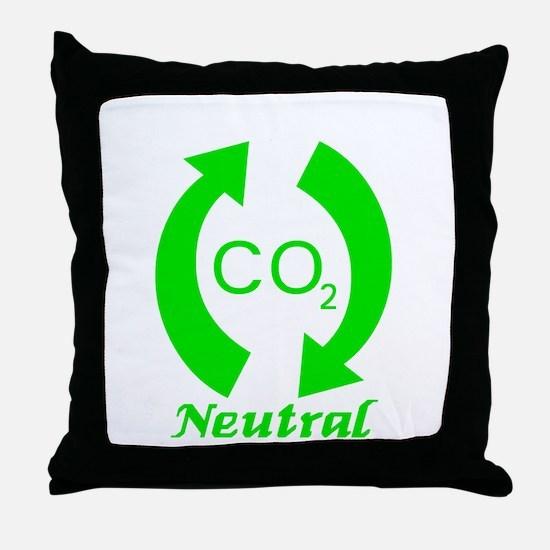 Carbon Neutral Throw Pillow