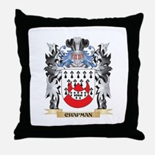 Chapman Coat of Arms - Family Crest Throw Pillow