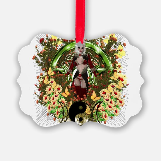 Pagan Pentacle Goddess Artwork Series Ornament