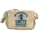 Introverts unite separately Messenger Bag