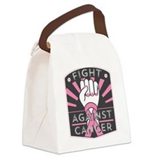 Fight Against Breast Cancer Canvas Lunch Bag