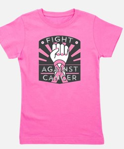 Fight Against Breast Cancer Girl's Tee