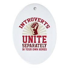 Introverts Unite Ornament (Oval)
