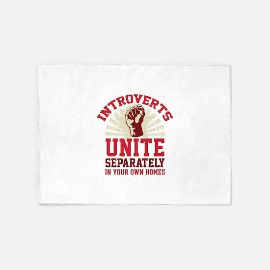 Introverts Unite 5'x7'Area Rug